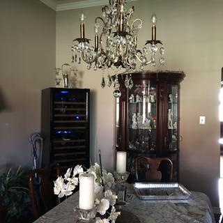 Our beautiful new dining room chandelier