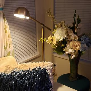 Dawson Antique Brass Pharmacy Floor Lamp