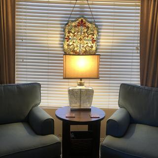 Love this lamp! We did a renovation and made a sitting room for ourselves.