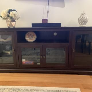 Just what we were looking for, great quality heavy piece of furniture and easy to build.