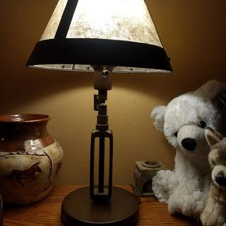 Love our new lamp!  Beautiful and functional.