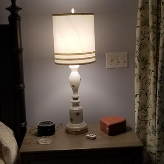 Lamp on, ceiling light off