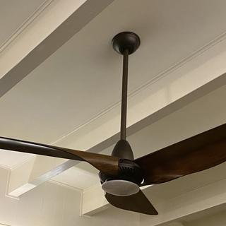 Beautiful fan for my mid century modern home. Similar styles at big box stores look cheap.