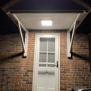 Back porch nicely lit