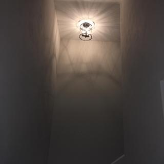 Looking up from the bottom of the stairs