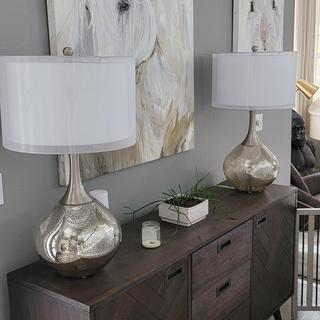 I ordered two of these gorgeous lamps.  Stunning!