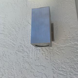 On an external wall