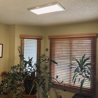 Flat panel ceiling liight.