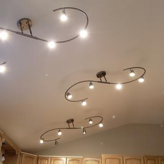 Used three of these across vaulted kitchen ceiling.  Using LED bulbs.
