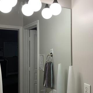 Love my new bathroom lights!  Easy to install, and they look great!