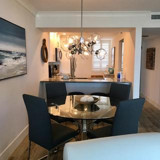 """To help others, it's over a 54"""" round table, and we used two of the 12"""" rods, ceiling height 8'."""