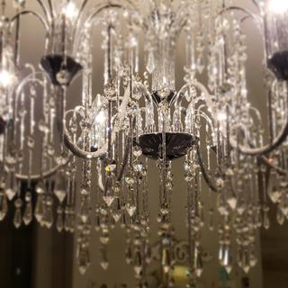 """I love the """"rain"""" look of this chandelier!  It is so beautiful in person."""