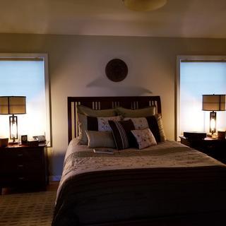 master bedroom nightstand lighting.