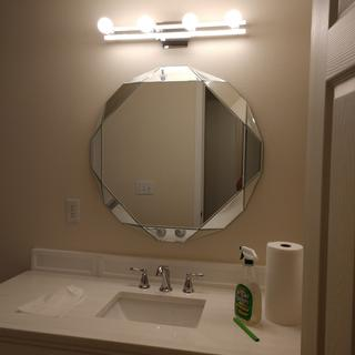 This mirror is stunning!  It fits perfectly in our new bathroom and we love it!