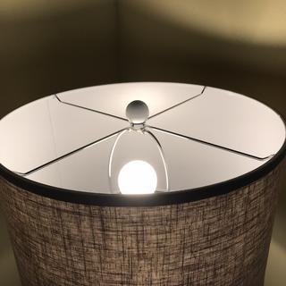 Tall lamp white finial