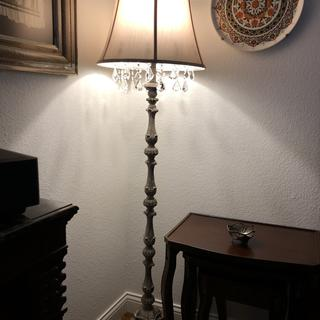 Beautiful lamp.  I also have the matching table lamp.