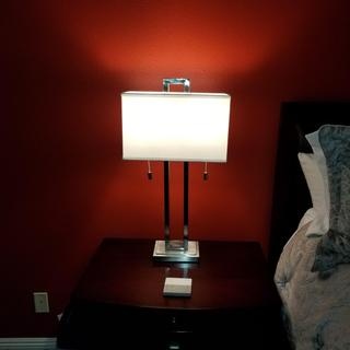 These lamps are absolutely gorgeous!!!! Definitely a great buy! The give my room a very modern look.