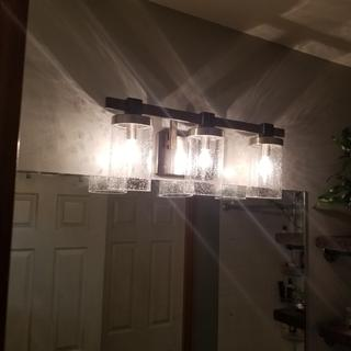 Love these lights! Gorgeous, and they cast a very cool patterned shadow. Could not be happier.