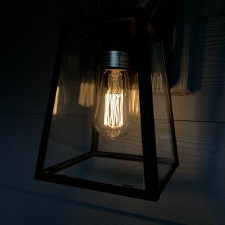 Edison bulb supplied.