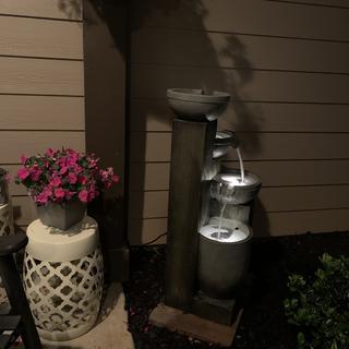 Love the subtle enhancement to our cozy front porch.