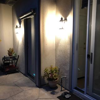 2 of the 9 light fixtures that we installed