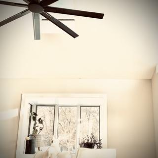 This fan changed the entire look of our room! Very quiet with lots of air flow on lowest setting.
