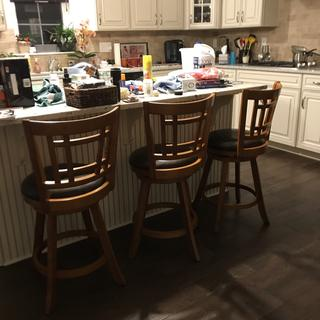 Still unpacking but counter stools are perfect in the new house!!