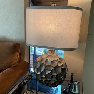 Beautiful, large, contemporary lamp.
