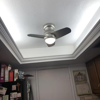 Kitchen converted ceiling.
