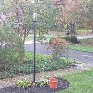 West Norriton, PA 120-inch direct burial post with Hinkley San Marcos 18-3/4 lamp post light