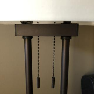 Rubber grommets installed at the top by customer to make the floor lamp look acceptable.