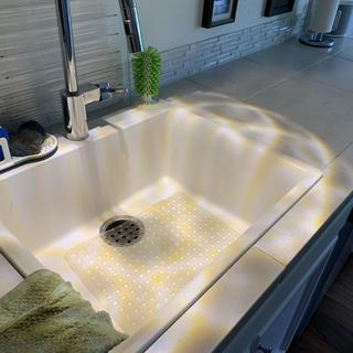 Reflection over the sink