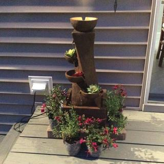 This water fountain is beautiful! I added some bricks as a base to make it a little higher.