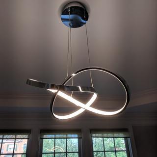 We love this light. Easy to install! Looks fabulous! Plenty of light.