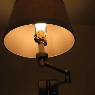 Inside of Shade with Tesler Milky 4W LED Dimmable Standard ST19 Bulb