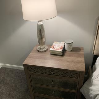 Mirrored lamps perfectly match my fleck mirrored night stands.