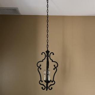 The new fixture replaced a rather dated-looking 1990's era pendant chandelier in my entranceway.