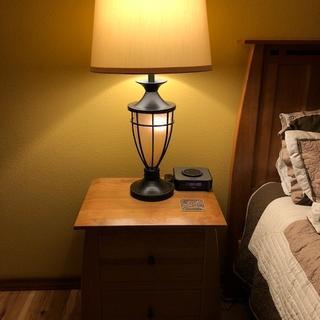 Both base and main lamp on