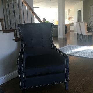 Chantelle Heather dark blue accent chair