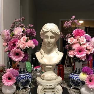 The Bust worked perfectly for the Greek inspired centerpiece.