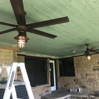 Easy to install and we are pleased with these fans.