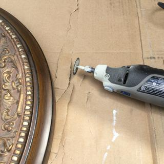 You will need a dremel type tool to cut and sand