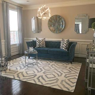 Salon styled formal living for my clients, they loved it!!!