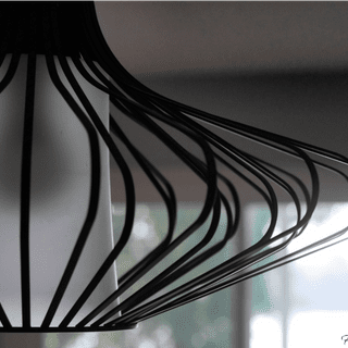 Closeup of Kichler Geometry Pendant Light    @FanningSparks