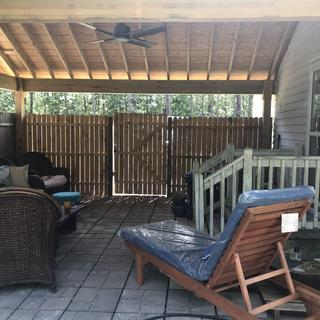 """New fan in our new """" outdoor room"""""""