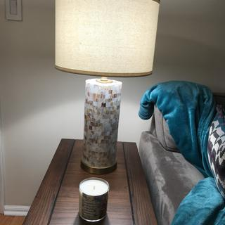 Love my lamp! It matches my decor perfectly.