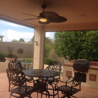 Rear yard covered patio