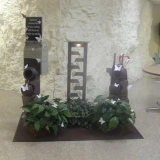 "Chanel 49"" High Slate Waterfall & 35"" Urn Fountain Display"