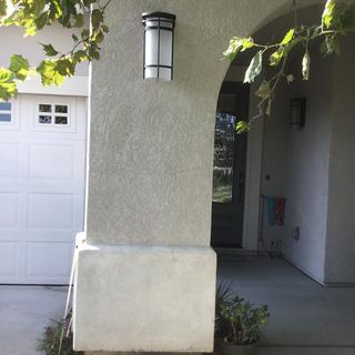 Entry way between garage and front door