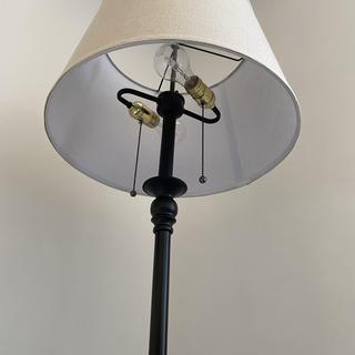 Looking inwards/ upwards at the lamp